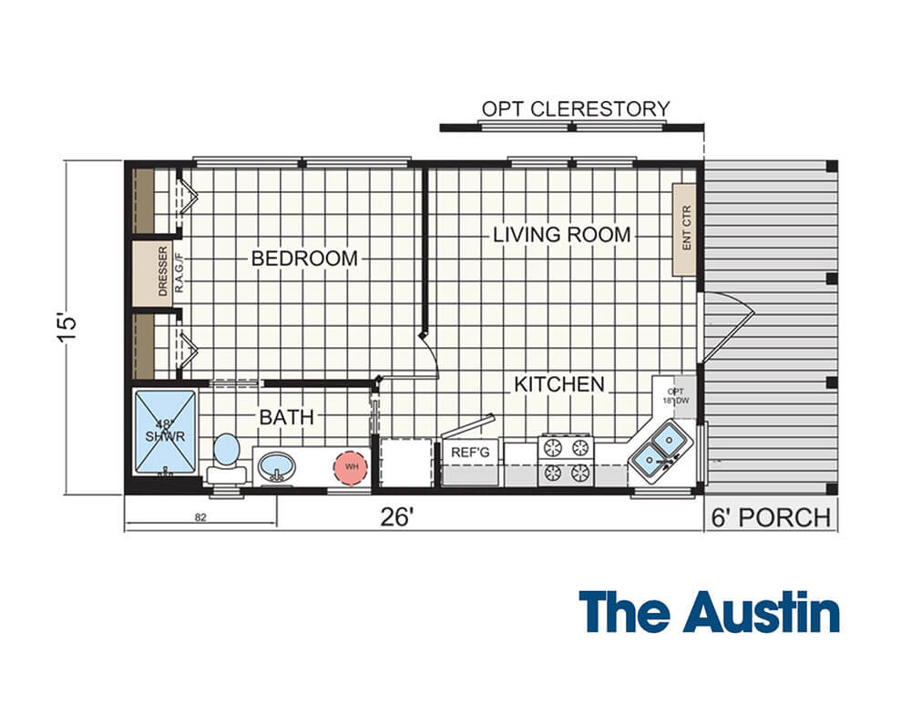 floor plan for The Austin